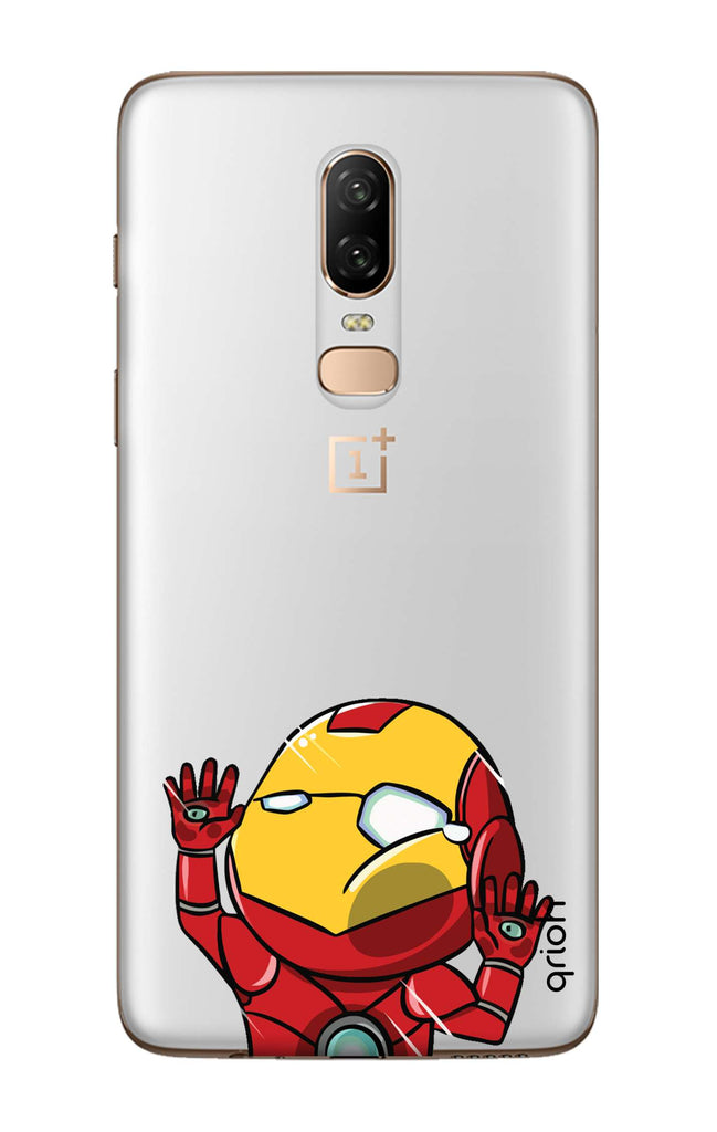 buy online b2778 74b37 Iron Man Wall Bump Case for OnePlus 6