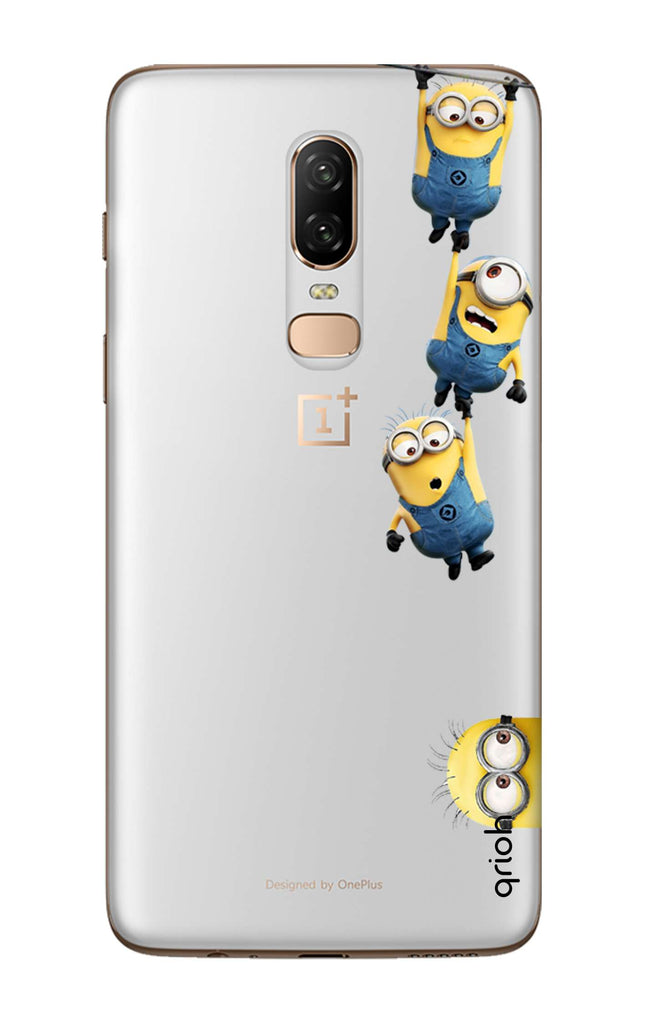new styles 16e84 8253e Falling Minions Case for OnePlus 6