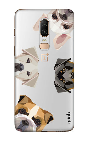 Geometric Dogs OnePlus 6  Cases & Covers Online