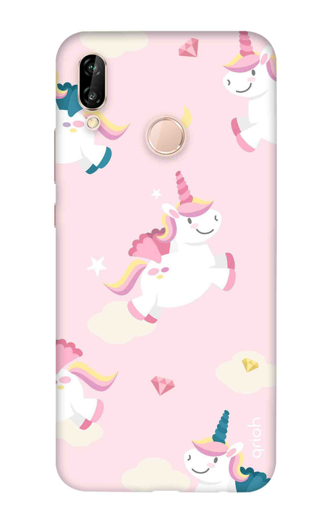 vasta selezione di c2d44 61ec5 Flying Unicorn Case for Huawei P20 Lite