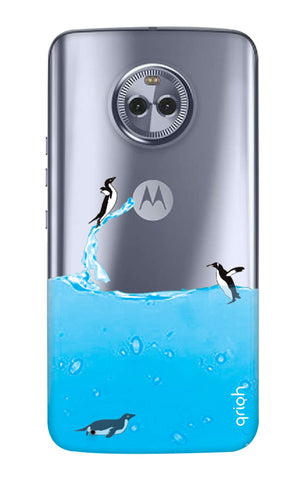 Penguins In Water Motorola Moto G6  Cases & Covers Online