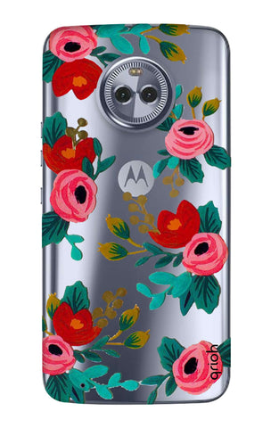 Red Floral Motorola Moto G6  Cases & Covers Online