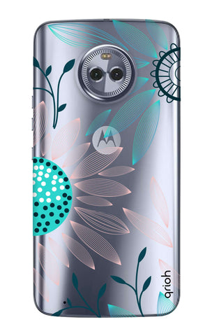 Pink And Blue Petals Motorola Moto G6  Cases & Covers Online