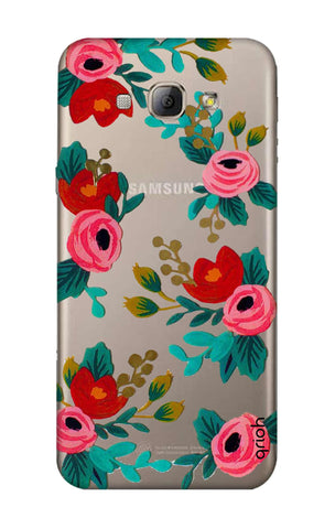 Red Floral Samsung A8 Cases & Covers Online