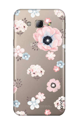 Beautiful White Floral Samsung A8 Cases & Covers Online