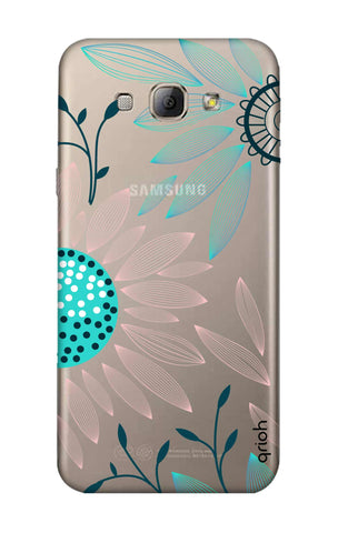 Pink And Blue Petals Samsung A8 Cases & Covers Online