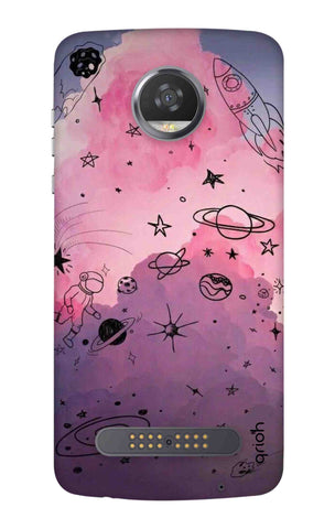 Space Doodles Art Motorola Moto Z3 Play Cases & Covers Online