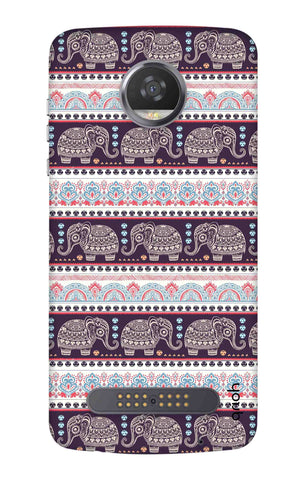 Elephant Pattern Motorola Moto Z3 Play Cases & Covers Online