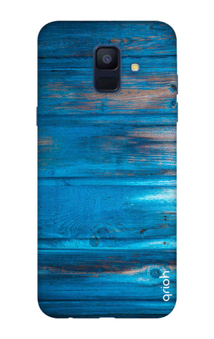 Blue Wooden Samsung A6 Cases & Covers Online