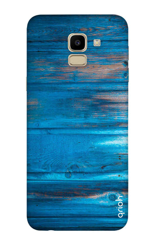 Blue Wooden Samsung J6 Cases & Covers Online