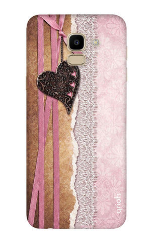 Heart in Pink Lace Samsung J6 Cases & Covers Online