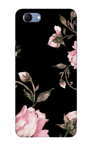 Pink Roses On Black Oppo Realme 1 Cases & Covers Online