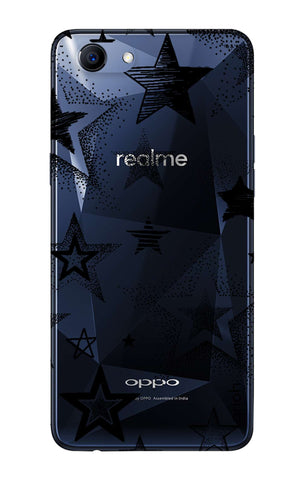 Black Stars Oppo Realme 1  Cases & Covers Online