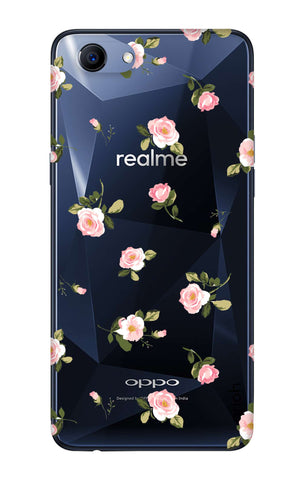 Pink Rose All Over Oppo Realme 1  Cases & Covers Online