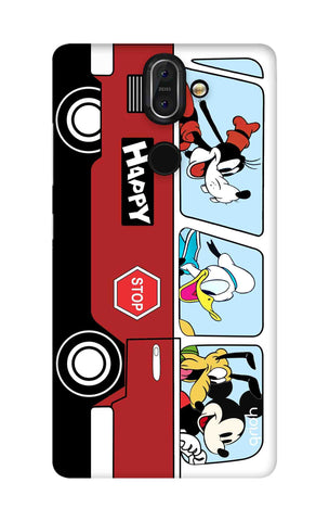 Cartoon Bus Nokia 8 Sirocco Cases & Covers Online