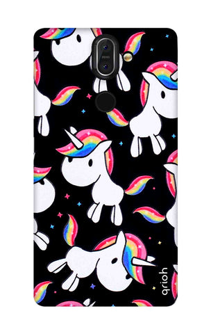 Colourful Unicorn Nokia 8 Sirocco Cases & Covers Online