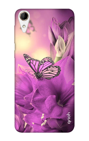 Purple Butterfly HTC 828 Cases & Covers Online