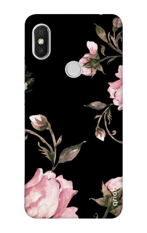Pink Roses On Black Xiaomi Redmi S2 Cases & Covers Online
