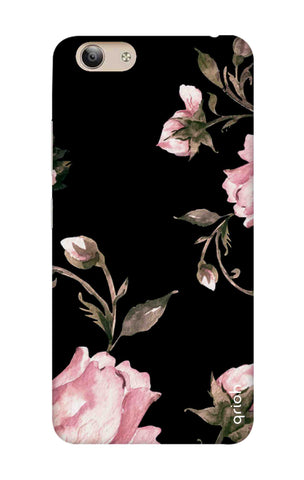 Pink Roses On Black Vivo Y53i Cases & Covers Online