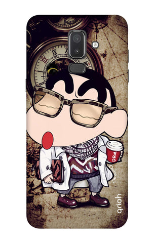 Nerdy Shinchan Samsung J8 Cases & Covers Online