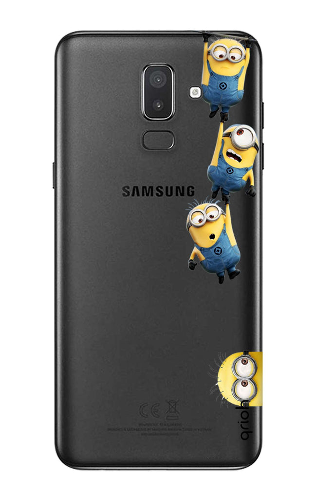 new style 0adca 13aec Falling Minions Case for Samsung J8