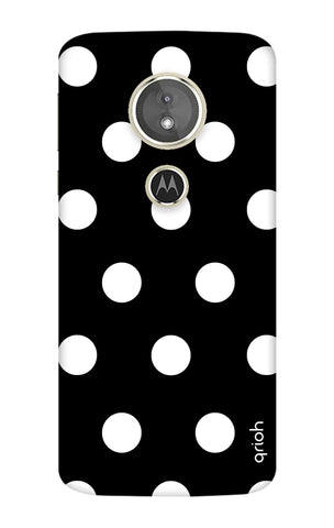 White Polka On Black Motorola Moto E5 Cases & Covers Online