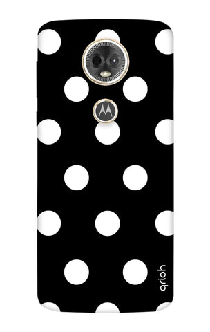 White Polka On Black Motorola Moto E5 Plus Cases & Covers Online