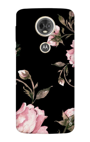 Pink Roses On Black Motorola Moto E5 Plus Cases & Covers Online