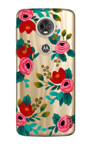 Red Floral Motorola Moto E5 Plus  Cases & Covers Online