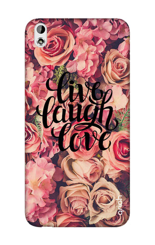 Floral Live, Laugh, Love HTC 816 Cases & Covers Online