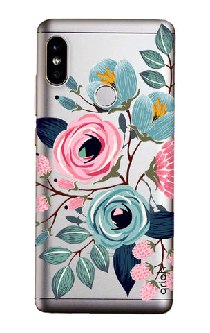 Pink And Blue Floral Xiaomi Mi A2  Cases & Covers Online