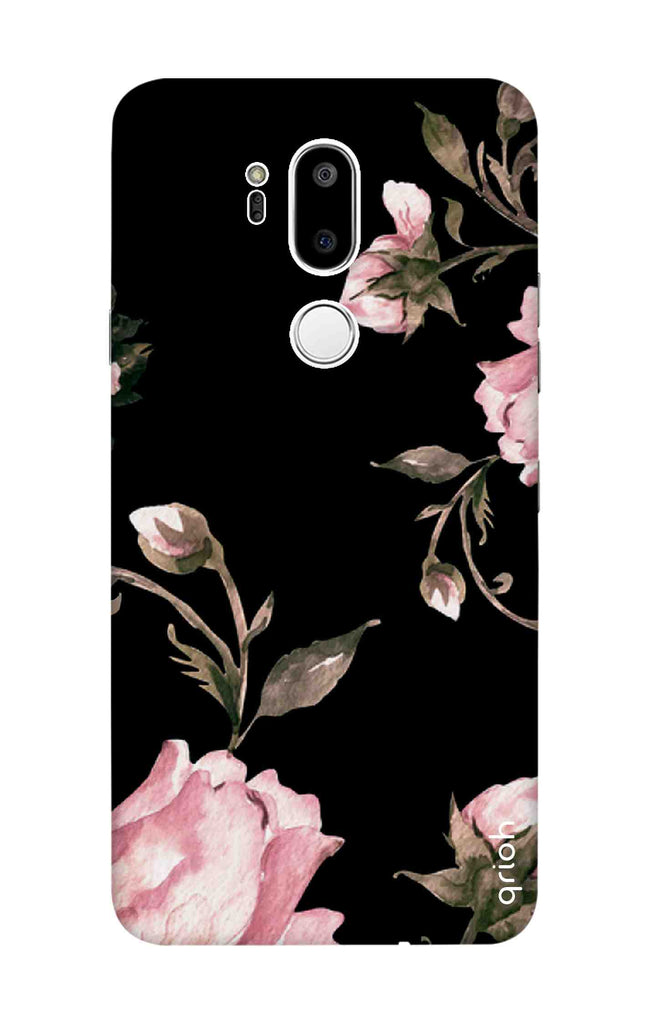 Pink Roses On Black Case for LG G7 ThinQ