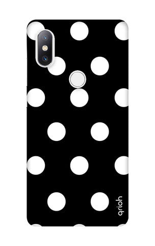 White Polka On Black Xiaomi Mi Mix 2S Cases & Covers Online
