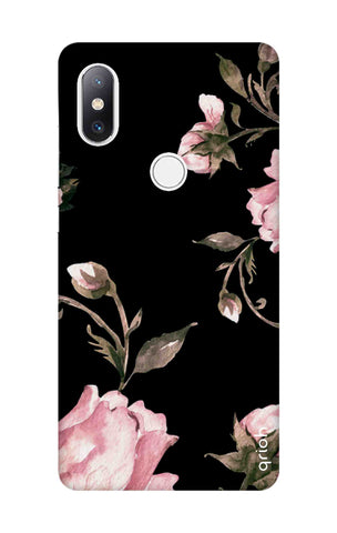 Pink Roses On Black Xiaomi Mi Mix 2S Cases & Covers Online