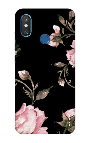 Pink Roses On Black Xiaomi Mi 8 Cases & Covers Online