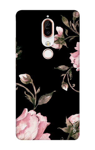 Pink Roses On Black Nokia X6 Cases & Covers Online