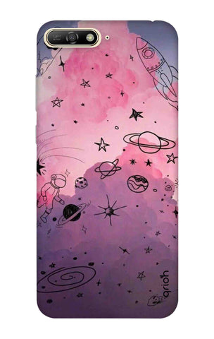 Space Doodles Art Huawei Y6 2018 Cases & Covers Online