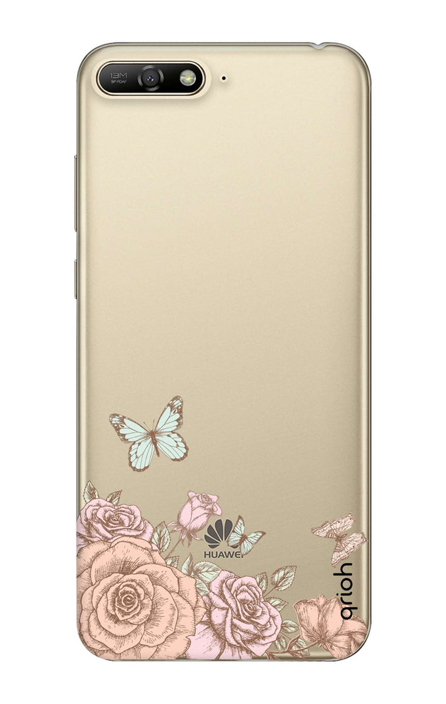 brand new b5b12 cd701 Flower And Butterfly Case for Huawei Y6 2018