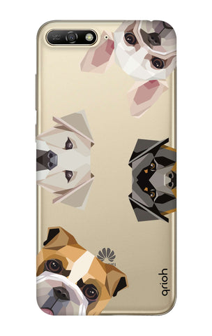 Geometric Dogs Huawei Y6 2018  Cases & Covers Online