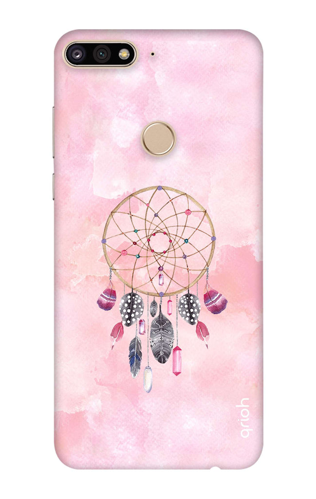new style a4996 1833a Pink Dreamcatcher Case for Huawei Y7 Prime 2018