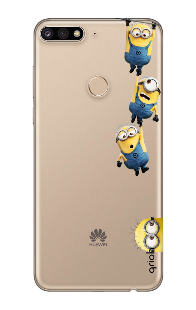 Falling Minions Case for Huawei Y7 Prime 2018