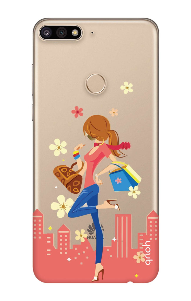promo code bc240 54c9d Shopping Girl Case for Huawei Y7 Prime 2018