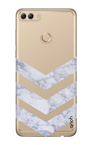 Marble Chevron Huawei Y9 2018  Cases & Covers Online
