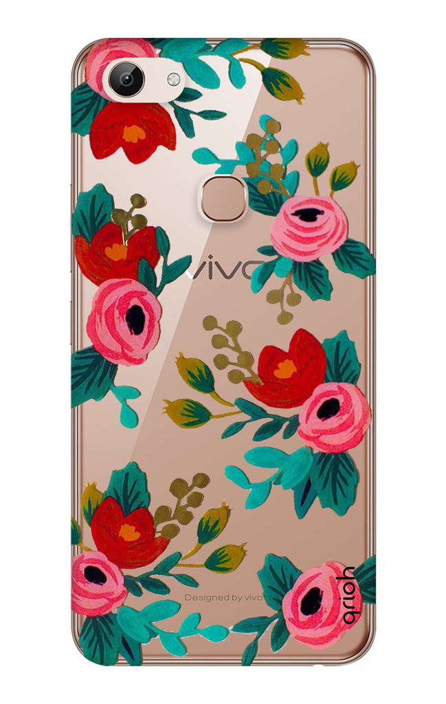 sports shoes 2ff2c 652bc Red Floral Case for Vivo Y83