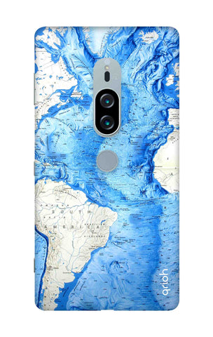 World Map Sony Xperia XZ2 Premium Cases & Covers Online