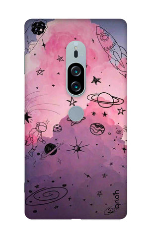 Space Doodles Art Sony Xperia XZ2 Premium Cases & Covers Online