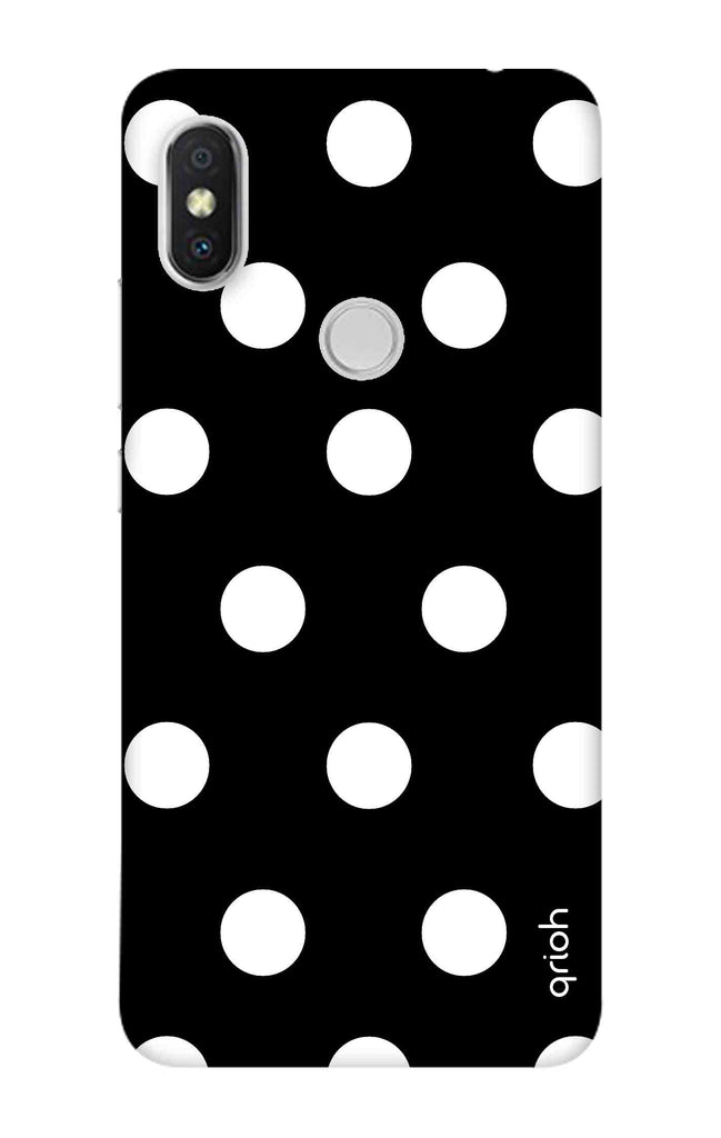 detailed look 191f7 bc922 White Polka On Black Case for Xiaomi Redmi Y2