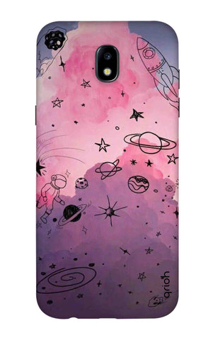 Space Doodles Art Samsung J7 2018 Cases & Covers Online
