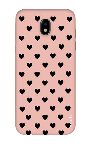 Black Hearts On Pink Samsung J7 2018 Cases & Covers Online