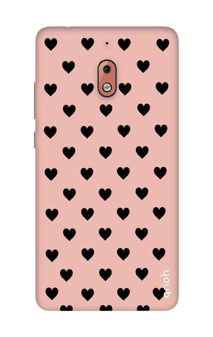 Black Hearts On Pink Nokia 2.1 Cases & Covers Online